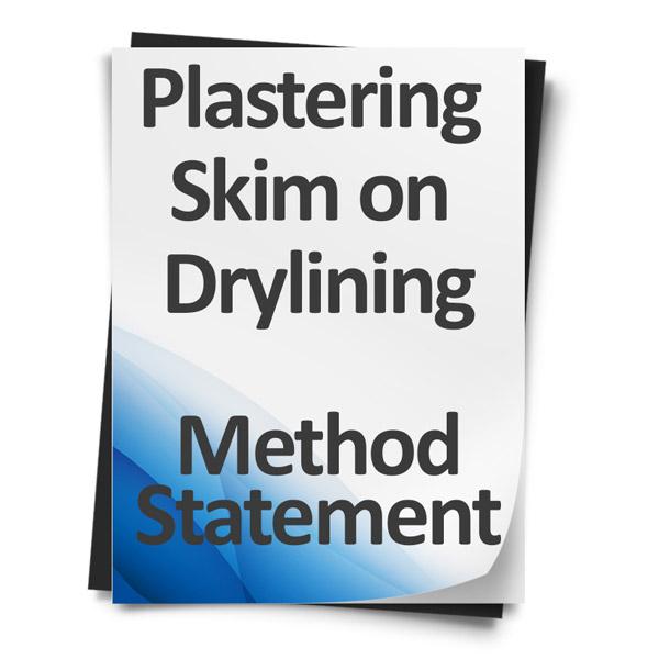 Plastering-Skim-on-Drylining-Method-Statement